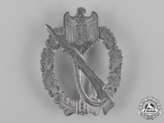 Germany, Heer. An Infantry Assault Badge, Silver Grade, by Fritz Zimmermann