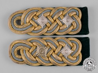 Germany, Ordnungspolizei. A Set of General der Polizei Shoulder Boards