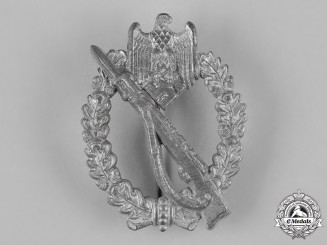 Germany, Wehrmacht. An Infantry Assault Badge, Silver Grade, by Gebrüder Schneider