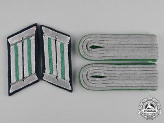 Germany, Heer.  A Set of Lieutenant Gebirgsjäger Shoulder Boards and Collar Tabs
