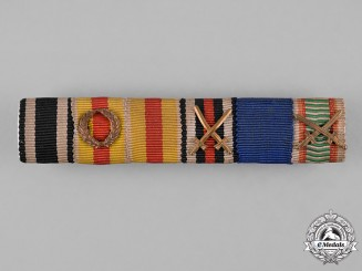 Baden, State. A First and Second War Period Medal Ribbon Bar
