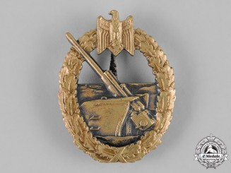 Germany, Kriegsmarine. A Coastal Artillery War Badge, by C.E. Juncker