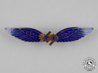 Germany, Third Reich. A Civil Pilot's Badge by C.E. Juncker