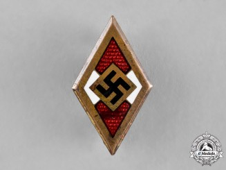 Germany, HJ. A Golden Membership Badge, by Otto Schickle