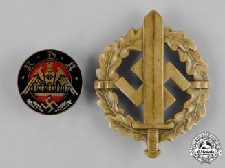 Germany, Third Reich. A Pair of Third Reich Merit Badges