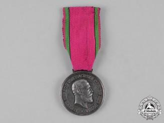 Saxe-Coburg and Gotha, Duchy. A Saxe-Ernestine House Order, Silver Merit Medal, c.1900
