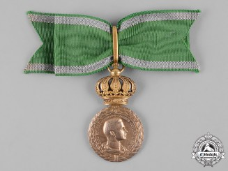 Saxe-Coburg and Gotha, Kingdom. A Golden Merit Medal for Art and Science with Crown