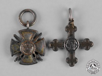 Württemberg, Kingdom. A Pair of Miniature Decorations, c.1916