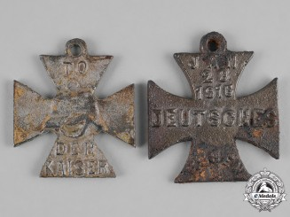 Germany, Imperial. A Pair of Anti-German Iron Crosses, British Made