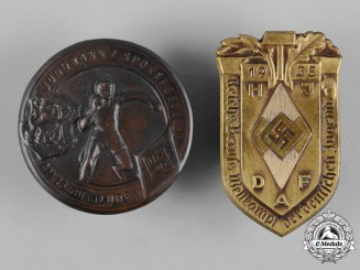 Germany, HJ. A Pair of HJ Event Badges, c.1935