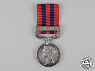 United Kingdom. An India General Service Medal 1854-1895, 80th Regiment of Foot (Staffordshire Volunteers)