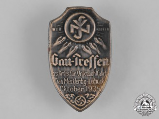 Germany, Third Reich. A 1935 District Meeting of the National Socialist People's Welfare Organization Badge
