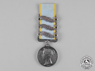United Kingdom. A Crimea Medal, to Private Charles Prince, 7th Regiment of Foot