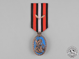 Iran, Pahlavi Dynasty. A Rastakhiz Anti-Communist Struggle Medal with Two Palms 1953, III Class