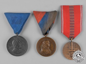 Hungary, Kingdom; Romania, Kingdom. Lot of Three Medals
