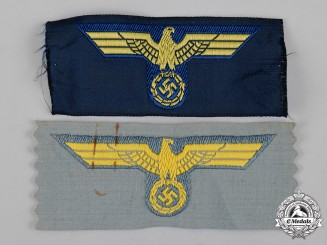 Germany, Wehrmacht. A Pair of Wehrmacht Cap Eagle Insignia