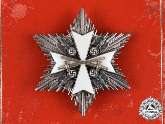 Germany, Third Reich. An Order of the German Eagle, Breast Star with Swords, by Gebrüder Godet