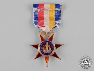 United States. An Order of the Indian Wars (OIWUS) in Gold, to First Lieutenant/Colonel Hugh T. Reed