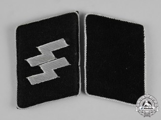Germany, SS. A Pair of SS Officer Collar Tabs