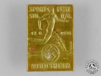 Germany, Third Reich. A 1934 Windsheim Sports Festival Badge