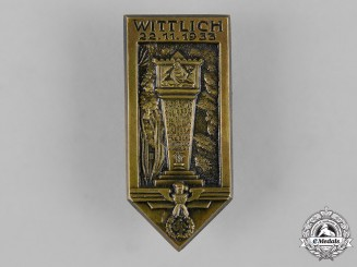 Germany, Third Reich. A 1933 Wittlich Region District Council Day Badge