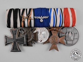 Germany, Third Reich. A First & Second War Period Medal Bar