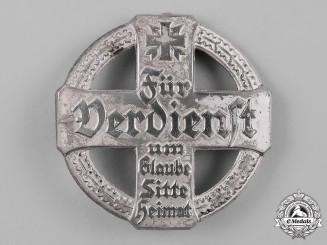 Germany, Weimar. A German Traditions Club Badge, Silver Merit Cross