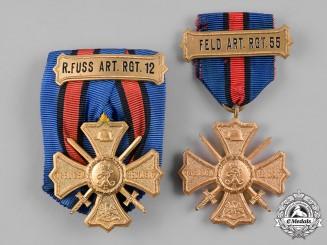 Germany, Weimar. A Pair of Regimental Commemorative Crosses