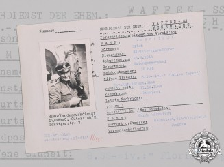 Germany, SS. A HIAG Tracing Service File for Untersturmführer Erich Warnstedt