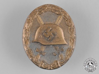 Germany, Wehrmacht. A Wound Badge, Gold Grade, by Klein & Quenzer A.G.