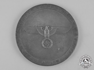 Germany, SA. A 1939 SA Berlin Sports Competition Table Medal