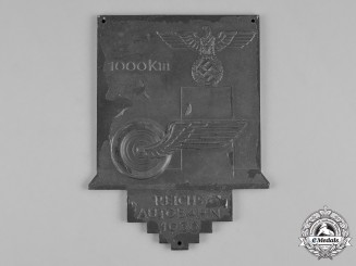 Germany, Third Reich. A 1936 First 1000 Kilometers of the Autobahn Plaque by B.H. Mayer