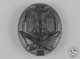 Germany, Wehrmacht. A General Assault Badge for 50 Engagements by Josef Feix & Söhne