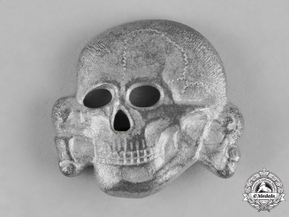 Germany, SS. A Second Pattern Waffen-SS Cap Skull by Overhoff & Cie