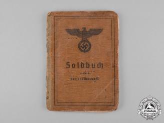 Germany, Heer. A Soldbuch to Heer (Army) Oberschütze Franz Mannhal, Infantry Reg.444