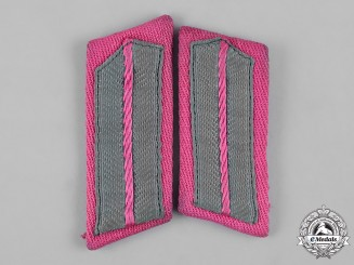 Germany, Feuerschutzpolizei. A Set of Fire Protection Police (Feuerschutpolizei) Volunteer Collar Tabs