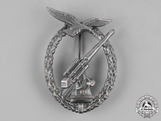 Germany, Luftwaffe. A Luftwaffe Flak Badge, Post-1957 Reissue