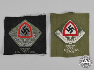Germany, RAD. A Pair of Reich Labour Service (RAD) Cap Insignia