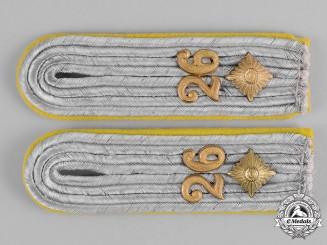 Germany, Heer. A Pair of Heer (Army) Signals Oberleutnant Shoulder Boards