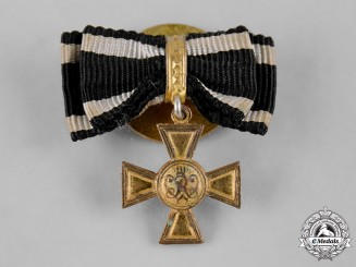 Prussia, State. A Miniature Golden Military Merit Cross, by J. Godet & Sohn