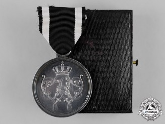 Prussia, State. A Military Merit Honour Decoration, II Class Medal, with Case