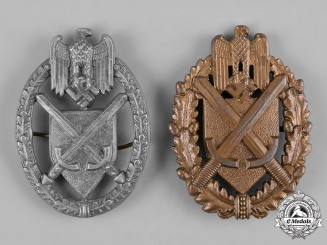 Germany, Wehrmacht. A Pair of Wehrmacht Marksmanship Lanyard Shields