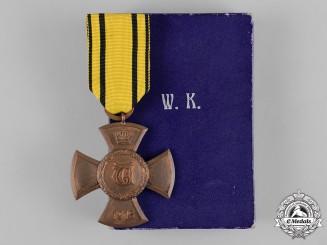 Württemberg, Kingdom. A Wilhelm Cross, with Case, by K. Münzamt