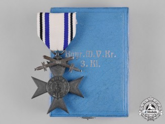 Bavaria, Kingdom. A Military Merit Cross, III Class with Swords, with Case, by Weiss & Co.