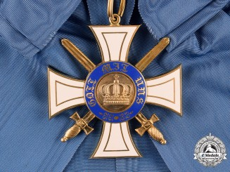 Prussia, Kingdom. An Order of the Crown in Gold, I Class Cross with Swords, c.1914