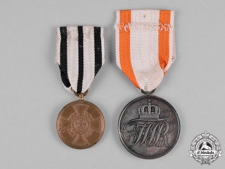 Prussia, Kingdom. A Pair of Prussian Merit Medals