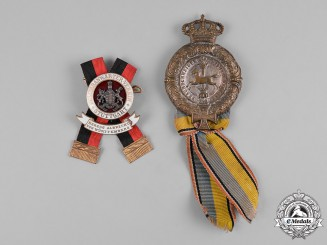 Germany, Weimar. A Pair of Veteran's Association Badges