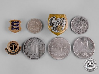 Estonia, Republic. A Lot of Coins and Patriotic Badges