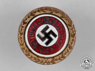 Germany, NSDAP. A Golden Party Badge, Small Version, by Josef Fuess (91708)
