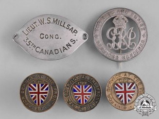 Canada. A Lot of Five First War Items Badge & Insignia